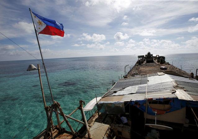 Filipínská vlajka na lodi
