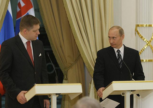 Robert Fico a Vladimir Putin