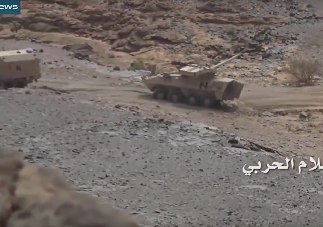 Gruzínské obrněné vozidlo se rozpadlo na kusy na válečném poli v Jemenu. VIDEO