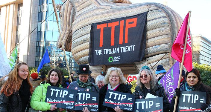 Protestní akce proti TTIP