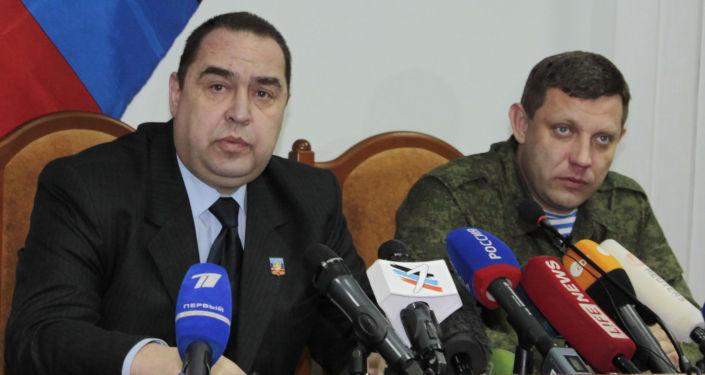Alexandr Zacharčenko a Igor Plotnický
