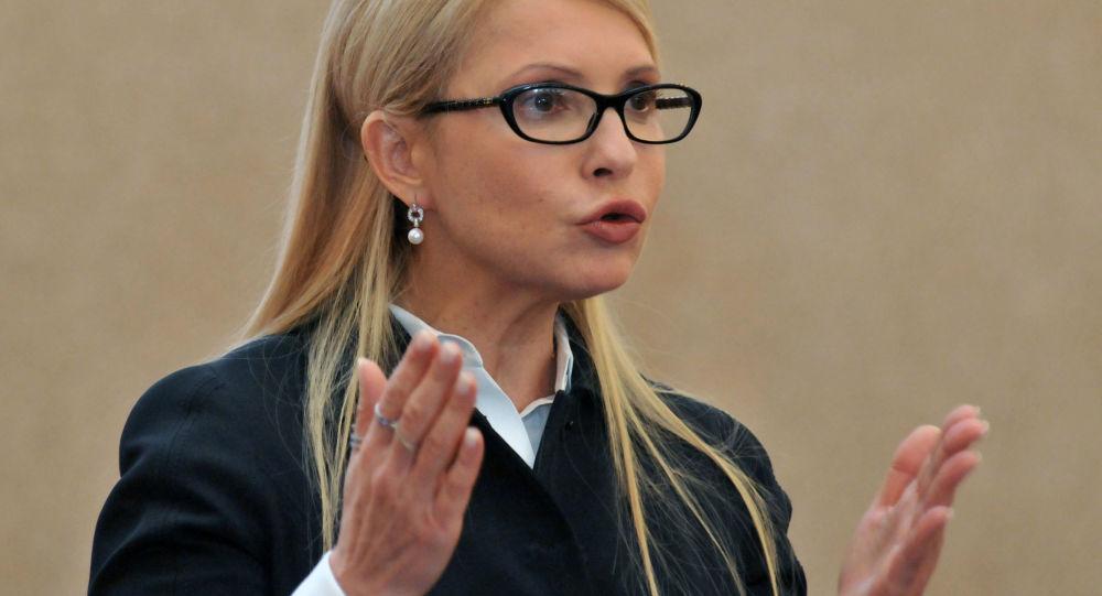 Předsedkyně parlamentní frakce Baťkivščyna Julie Tymošenková