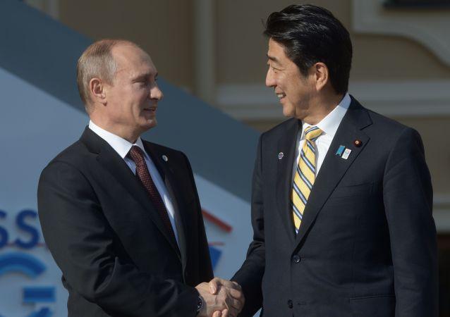 Vladimir Putin a Šinzó Abe