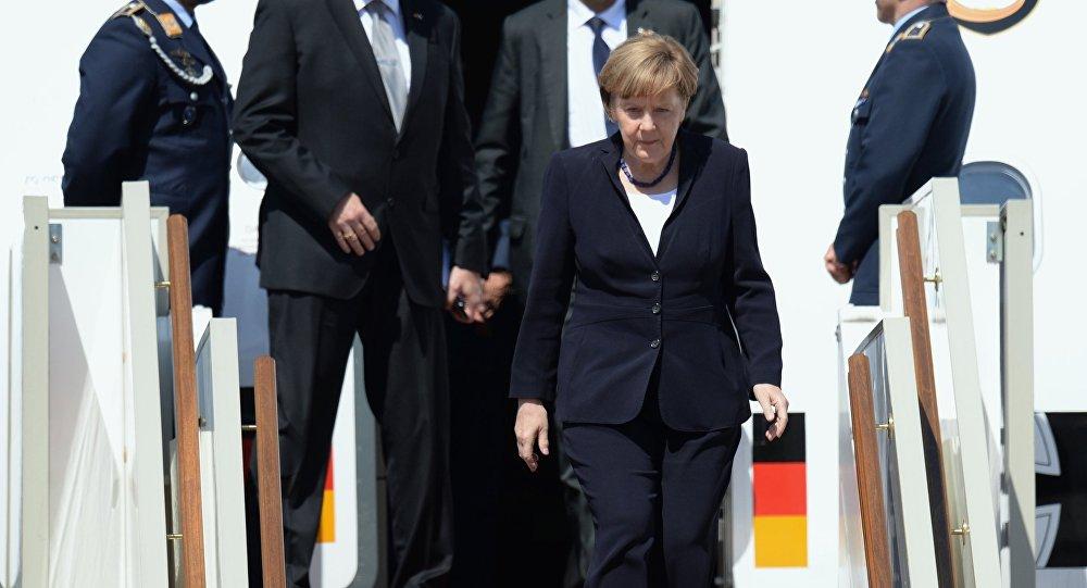 Angela Merkelová v Moskvě