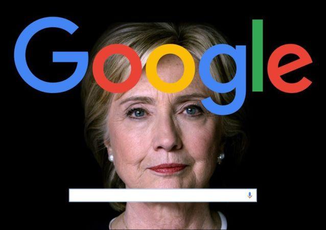 Google a Hillary Clintonová