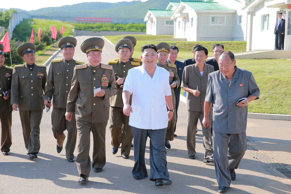 V srpnu návštivil Kim Čong-Un zemědělský komplex Taedonggang, kde je farma s vepři