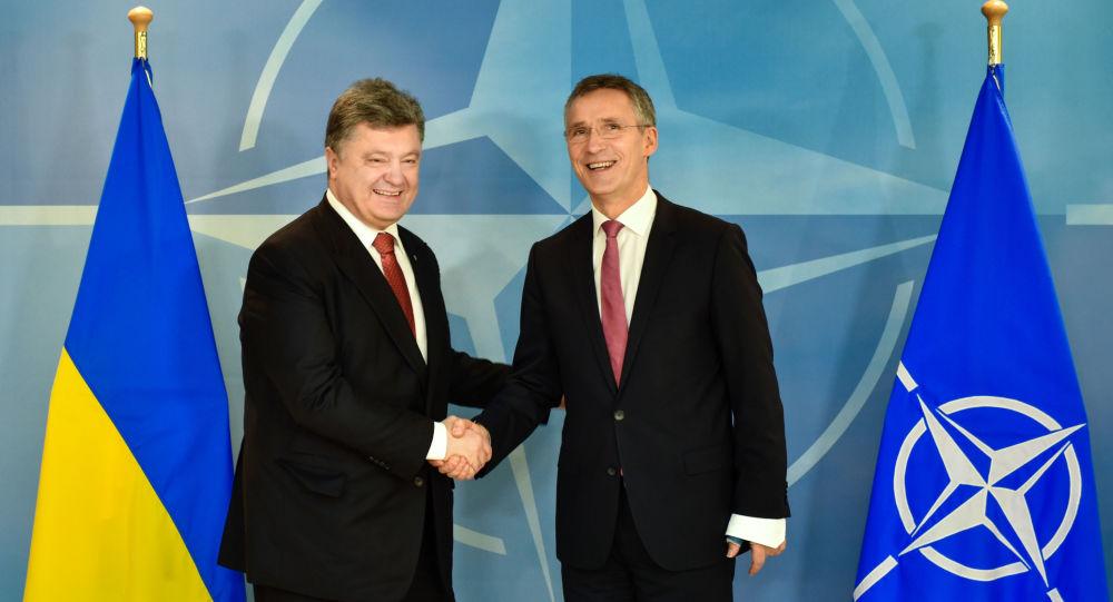 Petro Porošenko a Jens Stoltenberg. Ilustrační foto