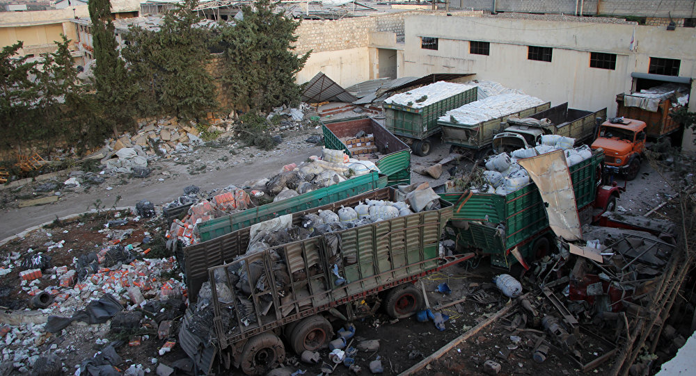 Humanitární konvoj OSN po ostřelování