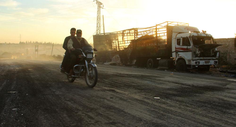Zničené nákladné auto