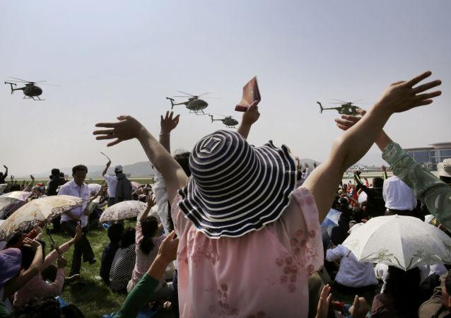 První letecká show v dějinách Severní Koreje