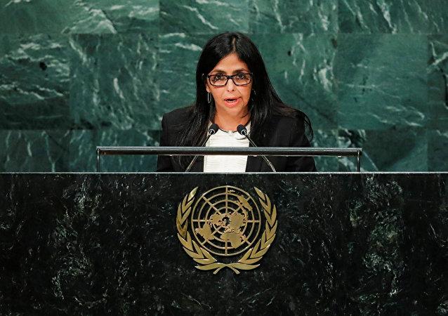 Venezuelská ministryně zahraničních věcí Delcy Rodríguezová