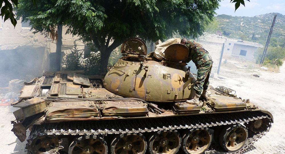 Tank T-55 syrské armády
