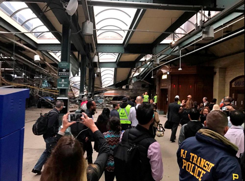 Havárie vlaku v New Jersey
