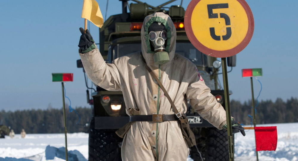 Trénink jednotek chemické, biologické a radiační ochrany v Sverdlovské oblasti