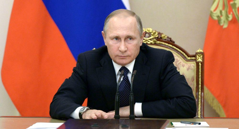 Vladimir Putin v Kremlu