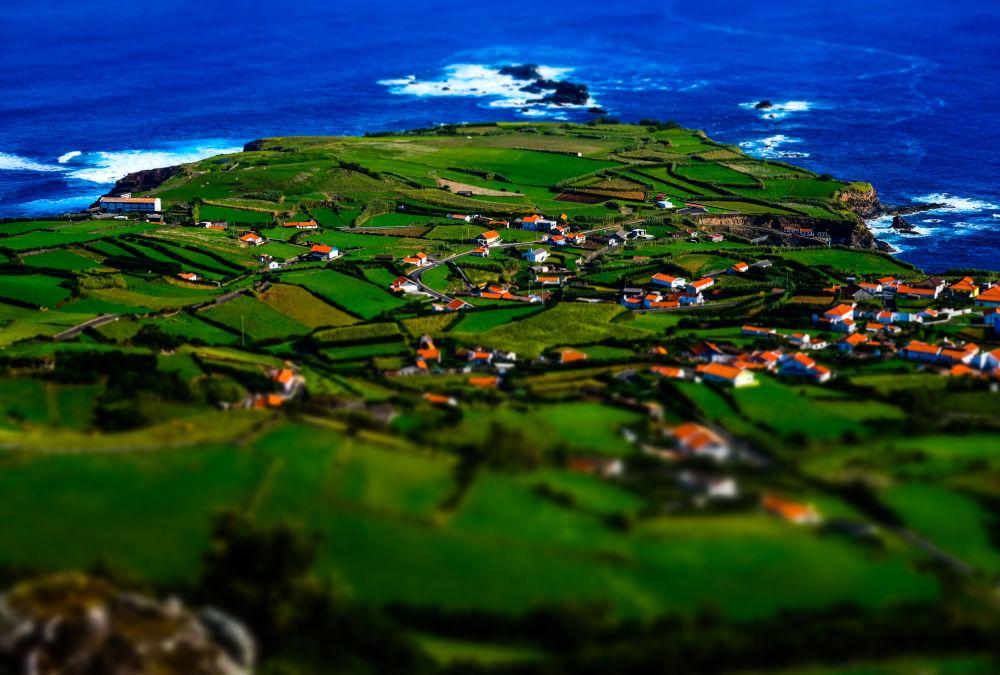 Ostrov Flores v Portugalsku