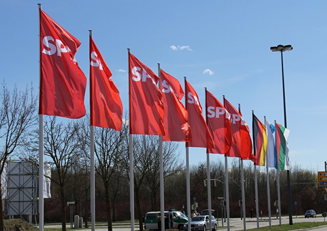 Vlajky politické strany SPD