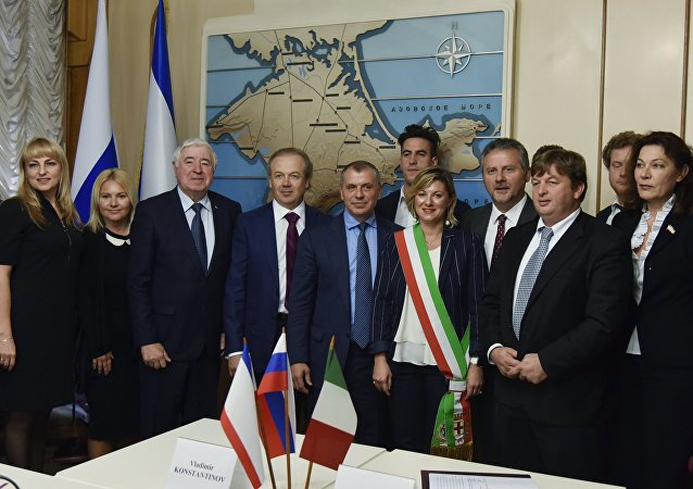 Italská delegace na Krymu