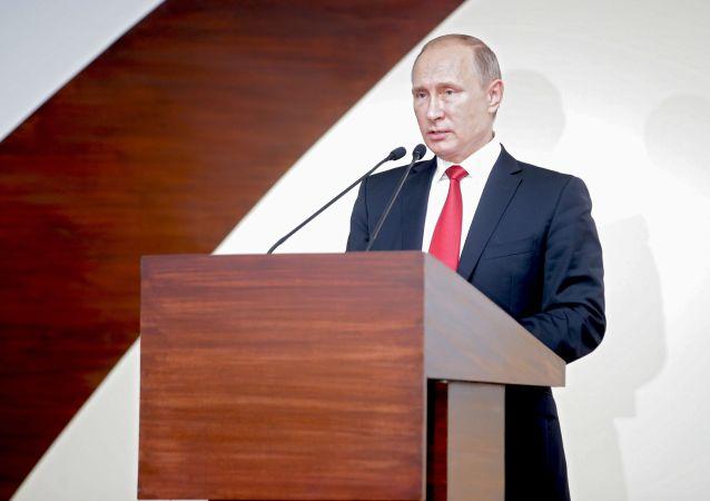 Vladimir Putin během summitu BRICS