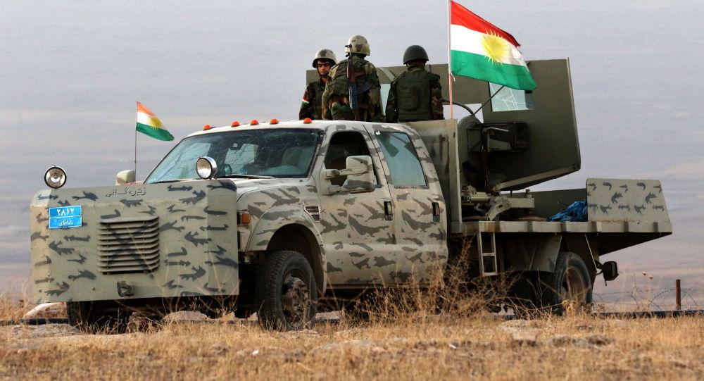 Bojovníci kurdské domobrany (Pešmerga) v Mosulu