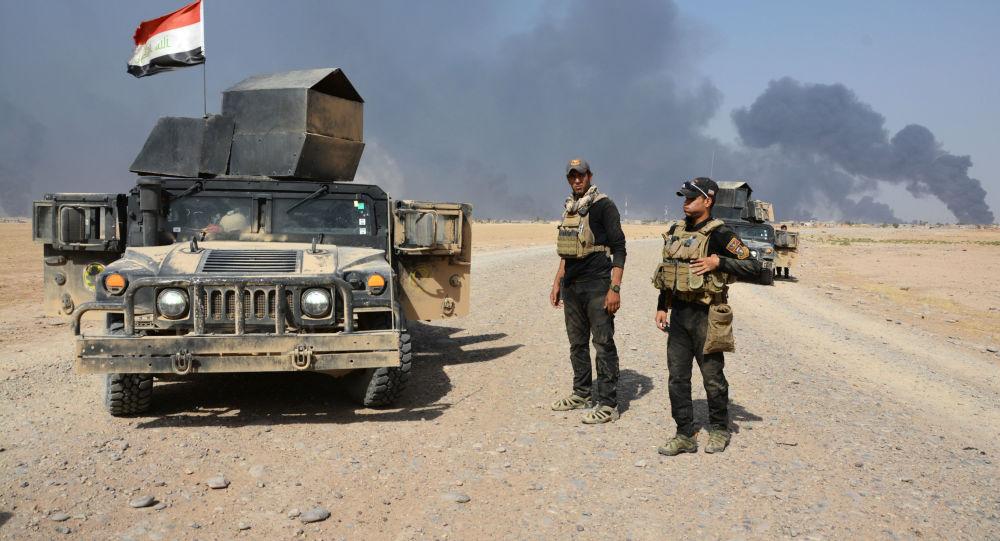 Iráčtí vojáci u Ninive