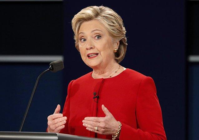 Kandidátka na prezidenta USA za Demokratickou stranu Hillary Clintonová