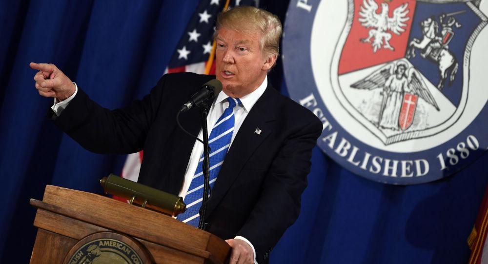 Americký prezidentský kandidát Republikánské strany Donald Trump