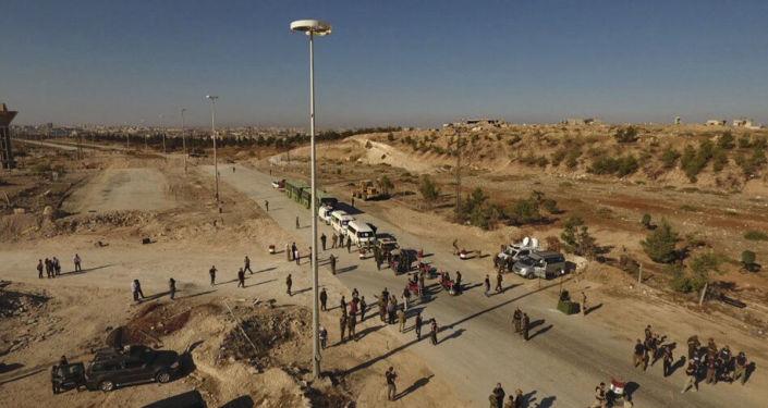 Humanitární koridor u silnice Castello