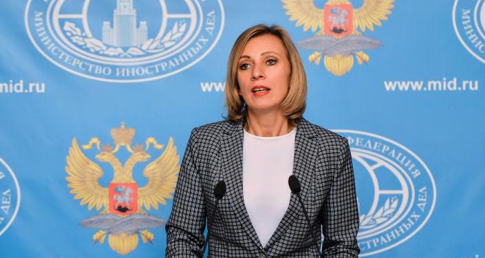 Tisková mluvčí Ministerstva zahraničních věci Ruska Maria Zacharovová
