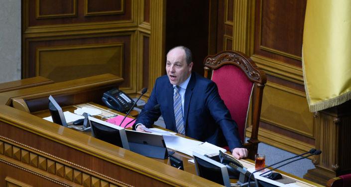 Předseda Nejvyšší rady Andrij Parubij