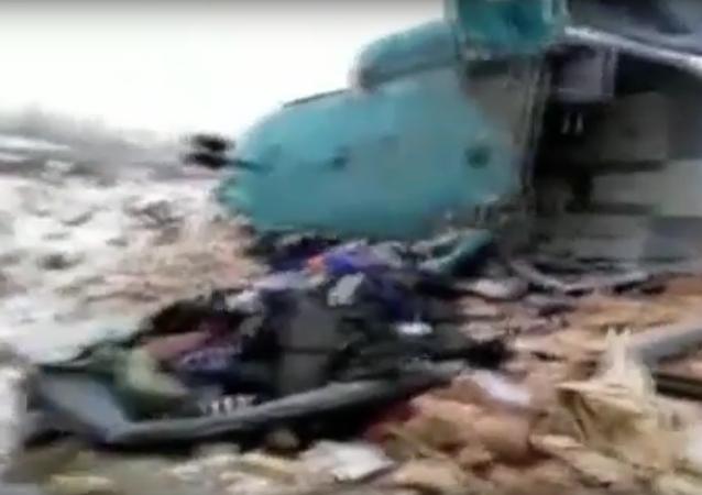 Místo havárie Mi-8