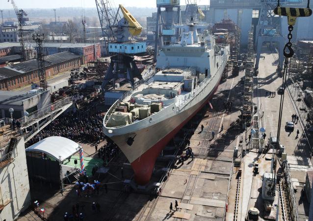 Fregata Admirál Grigorovič po výstavbě