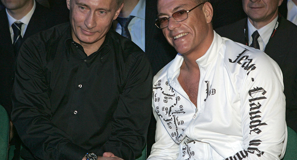 Vladimir Putin a Jean-Claude van Damme v Petrohradě