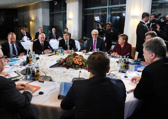 Schůzka lídrů zemí Normandské čtyřky v Berlíně