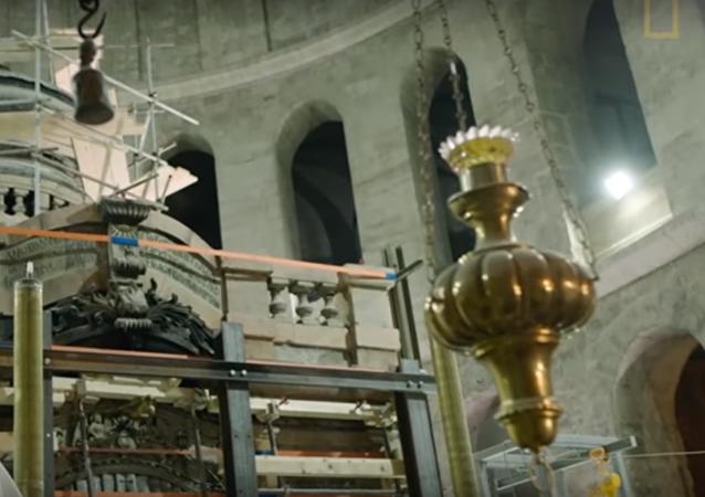 Bylo zveřejněno video otevření Ježíšova hrobu