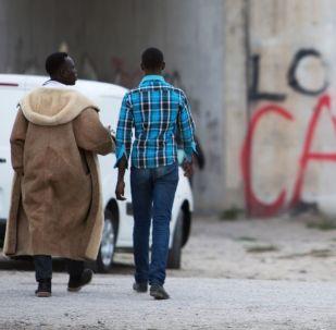 Tábor nelegálních migrantů v Calais
