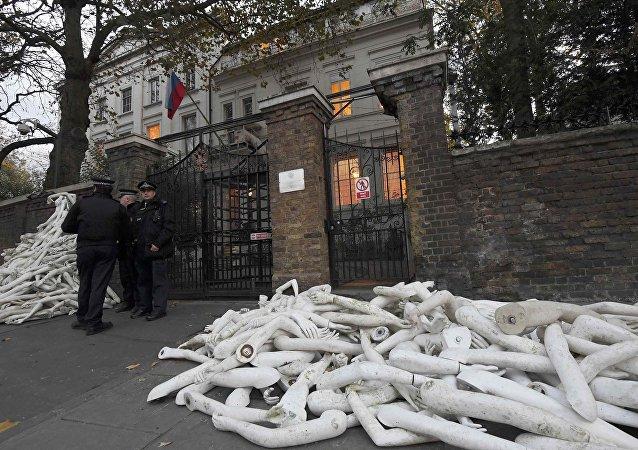 Ruské velvyslanectví v Londýně. Archivní foto