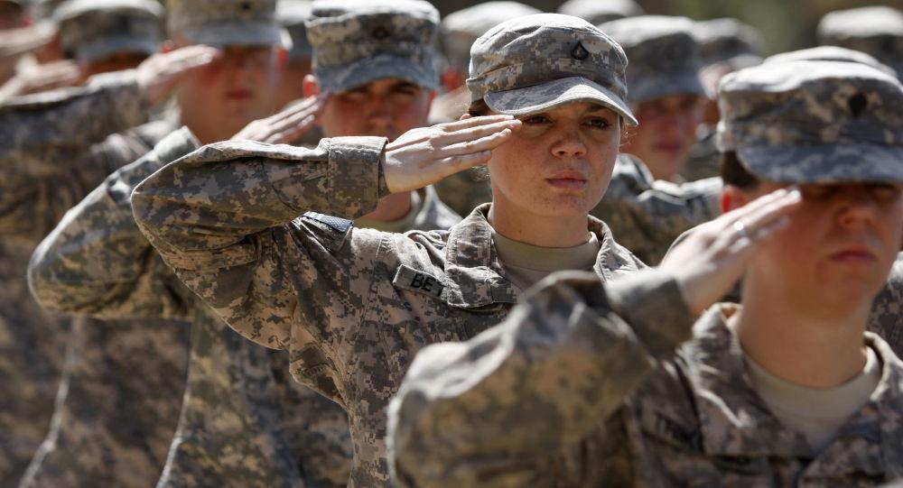Americká vojačka. Ilustrační foto