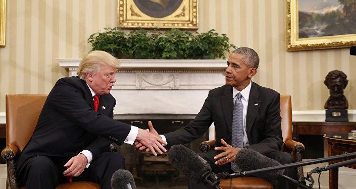 Trump na schůzce s Obamou v Bílem domě