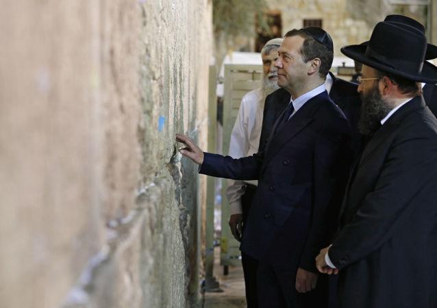 Předseda ruské vlády Dmitrij Medveděv v Izraeli