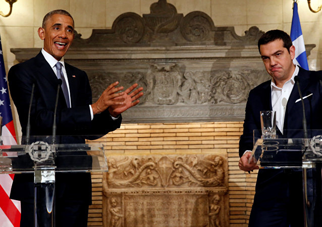 Barack Obama a Alexis Tsipras