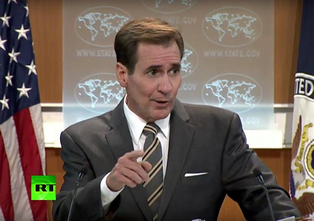 Mluvčího ministerstva zahraničí USA rozčílila otázka novinářky RT o Sýrii