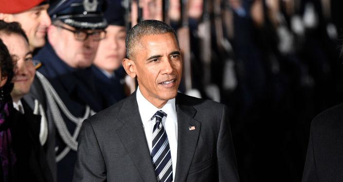 Barack Obama na Berlínském letišti