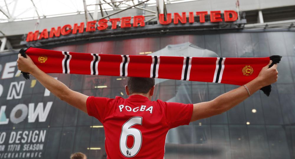 Fanoušek anglického fotbalového klubu Manchester United. Ilustrační foto