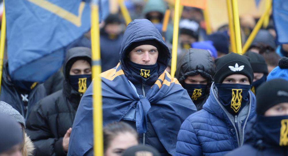 Účastníci akce v Kyjevě