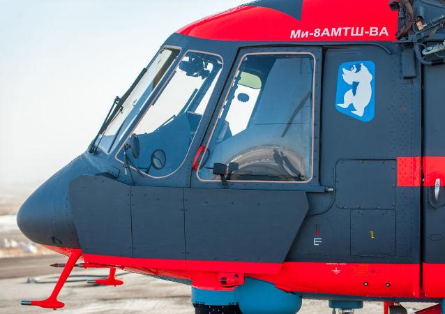 Letecká cvičení arktického vrtulníku Mi-8AMTSh-VA