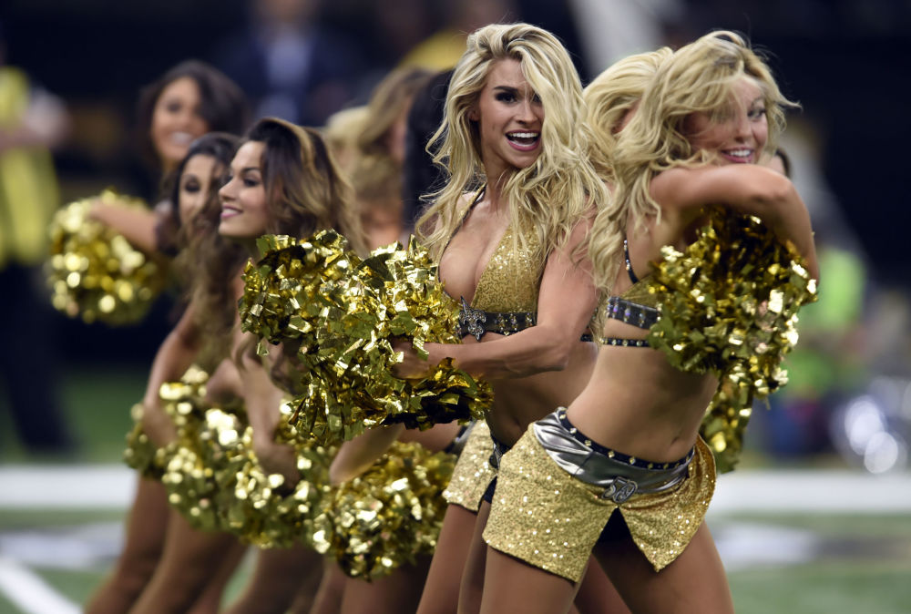 Roztleskávačky týmu New Orleans Saints v New Orleans