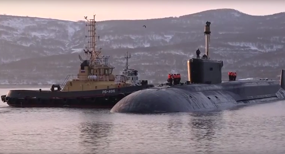 Atomová ponorka Alexandr Něvský se vrací na základnu