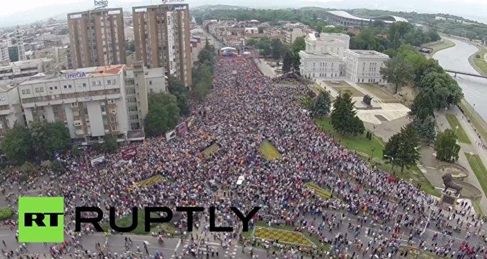 Protivládní protesty ve Skopje