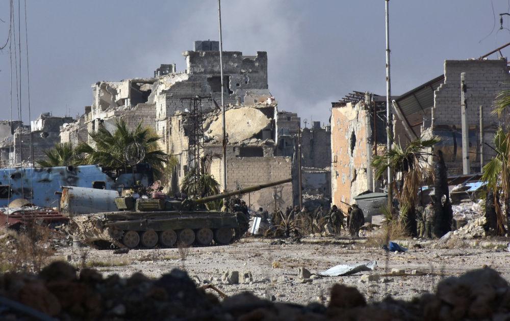 Syrská vojska na západě Aleppa